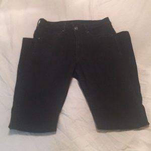 H&M full length black skinny high waisted jean 27